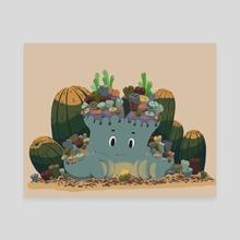 Lithop buddy - Canvas by Kasia Tobola