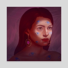 All Eyez On Me - Canvas by Nasima Bibi