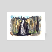 Palisade Falls  - Art Card by Emily Martin