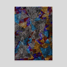 Geometric glass texture - Canvas by Bruce Rolff