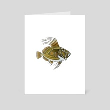 Green Fish - Art Card by Adam Lindsay Honsinger