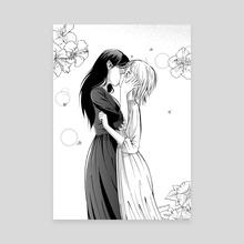First Kiss - Canvas by Tori Clough