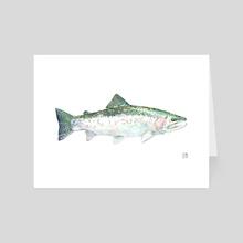 Pacific Steelhead - Art Card by Eric VanAllen