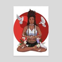Eve's Peace - Canvas by David Djoco