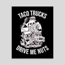 Drive Me Nuts - Canvas by Miguel Cervantes