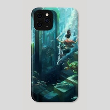 Submerged City - Phone Case by Julie Dillon