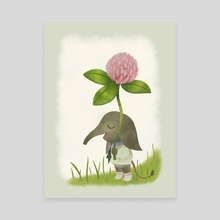 Little Elephant and the Dandyflower - Canvas by Greg Abbott