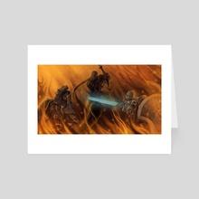 Dark Souls Fight - Art Card by Amberthyst
