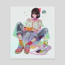 gamer - Canvas by Helen Highton