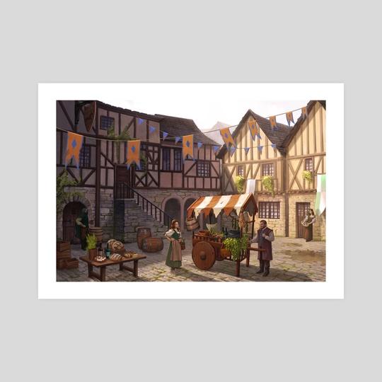 medieval village by sara meseguer solano