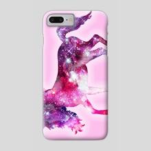Galaxy Unicorn - Phone Case by Addison Kanoelani
