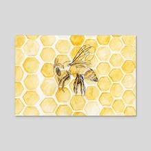 The Honeybee - Acrylic by Michelle Kondrich