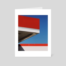 Blue, Red, and White, 2018. - Art Card by graham littell