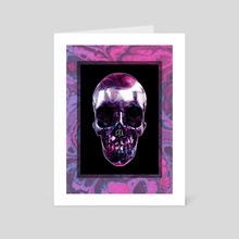The Last Party Skull - Art Card by Andi GreyScale
