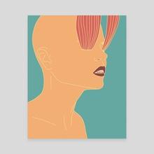 Nostril Chakra - Canvas by Grace Neeson