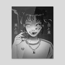 CUTEST GIRL - Acrylic by Jyokai_