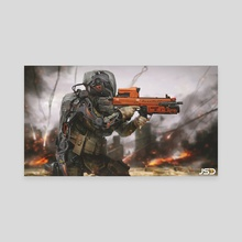 Future Soldier  - Canvas by Jude Smith