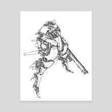 Mech Sniper - Canvas by Ryan Barry