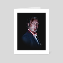 Hannibal - Mads Mikkelsen - Art Card by Ellie Wyatt