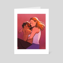 Cuddles - Art Card by Beverly Johnson