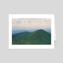 the mountains - Art Card by Anton Popov