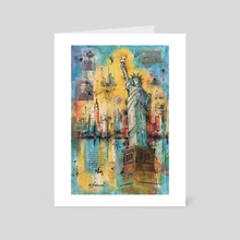 Lady Liberty - Art Card by Nancy T Anderson