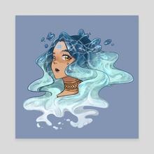 Aquarius - Canvas by ariel wu