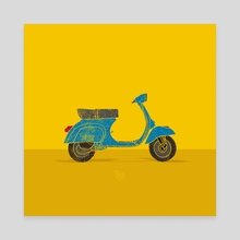 Vespa - Canvas by LeftHandedGraphic
