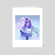 Owl Girl - Art Card by Pomelyne .