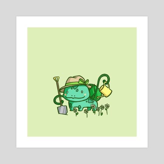 Pokemon at Work - Gardener Bulbasaur by Miss Chibi