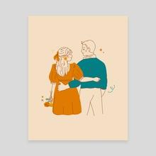"""us"" - Canvas by illustrata"