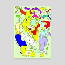 Dissimulate - Canvas by Alberto Carlos  Montana  © ( ͡° ʖ̯ ͡°)