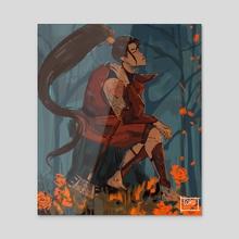 Warrior JIMIN - [commission] - Acrylic by Sol Miceli