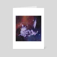 Space Cat VI - Art Card by Bronwyn Schuster
