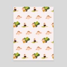 Piglets pattern - Canvas by Pavel Arsenyev