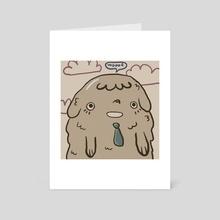 Good Boy - Art Card by Alma