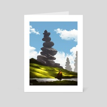 Sanctum Peaks - Art Card by Hanson Weng