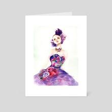 Purple Dream Dress  - Art Card by Joanne Ku