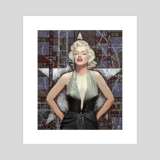 Marilyn Monroe, Old Hollywood series, Brown Silver by Julia Khoroshikh