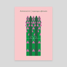 Vegetable: Asparagus - Canvas by Christopher Dina
