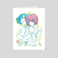 Rem and Ram Re-Zero 01 - Art Card by robbot17 studio