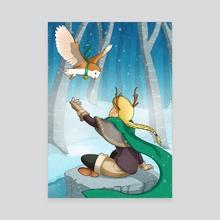 Artemis - Canvas by Ilona van Oudenaarden