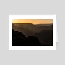 grand canyon silhouettes - Art Card by Lauren Scornavacca