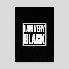 I Am Very Black Retro 5 - Canvas by Visuals Artwork