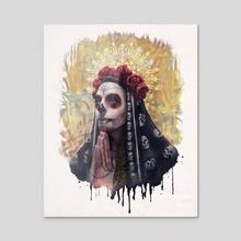 Catrina - The Skull Girl  - Acrylic by Carlos Tato