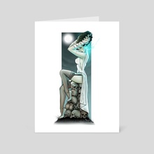 Sexy Bride - Art Card by Ted Hammond