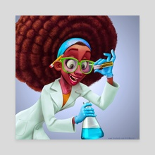 The Scientist - Canvas by Art of Mervin