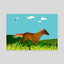 Horse galloping - Canvas by Michal Eyal