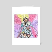 KOD Crayon Drawing - Art Card by Aaron Fahy