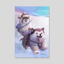 The Polar Express - Acrylic by Sabrina O'Donnell